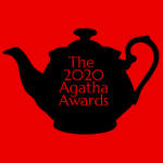 "black teapot against white background with ""The 2020 Agatha Awards"" overlaid"